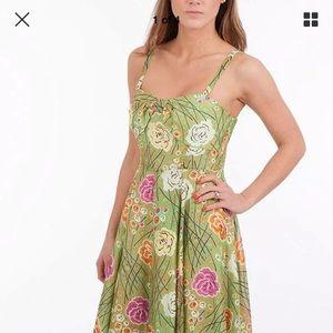 Anthropologie Girls From Savoy Floral Silk Dress